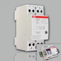 Модульный контактор ABB ESB-24-40 (24А AC1) 220В АС/DC