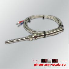Датчик температуры термопара тип К +400°C в щупе 50 мм